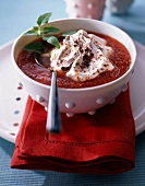 Spicy tomato soup with cream