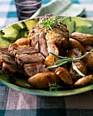 Roast pork with Grenailles