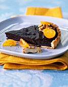 Chocolate and kumquat tart