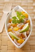 Sea bream and vanilla mango tartare