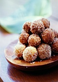 Pastry balls covered with sugar