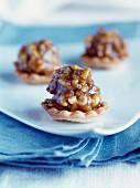 Walnut and caramel tartlet
