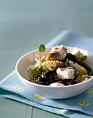 Artichoke,feta ,olive and confit lemon salad