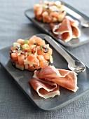 Tomato tartare with Serrano ham