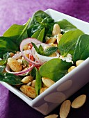 Indian-style spinach and almond salad