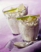Fennel mousse verrines