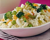 Mixed spring vegetable risotto
