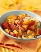 Melon, peach and apricot fruit salad