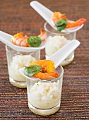 Champagne risotto with prawns