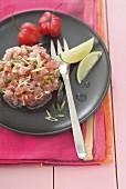 Tuna and lime Tartare