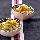 White bean,onion and saffron salad