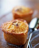 Small heart-shaped coconut cakes