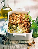 Zucchini and mint crumble
