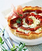 Tomato,mozzarella and basil tartlet
