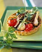 Summer vegetable tartlet
