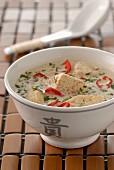 Chicken and coconut milk Thai soup