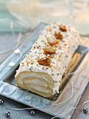 Almond log cake