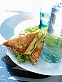 Cucumber Croque-monsieur toasted sandwich