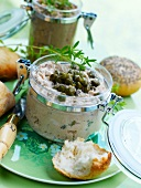 Potted tuna with capers