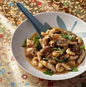 Sautéed chicken with cashew nuts