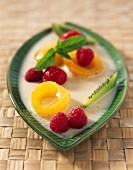 Coconut milk with fruit