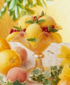 Peach-orange ice cream