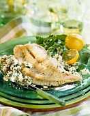 Sole and herb risotto