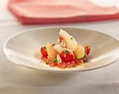 Stockfisch mit Tomate und Sherryessig