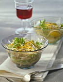 Grated celriac salad with lemon zests