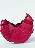 Bitten raspberry macaroon
