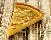 Portion of lime and lemon tart
