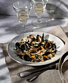 Mussel and cockle salad