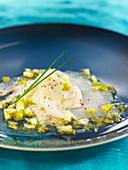 Fisch-Carpaccio mit Limette