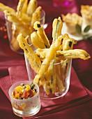 Courgette tempura stick