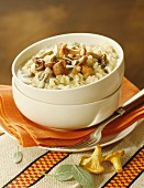 Mushroom risotto with sage