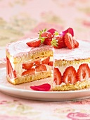 Fraisier,strawberry gateau