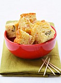 ham and green olive savoury cake