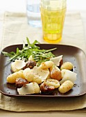 Gnocchis with chestnuts and parmesan