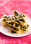 Filo pastry mushroom tartlets