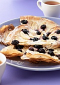 Bilberry and pear filo pastry pie
