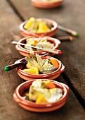 Artichokes with oranges