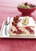 White and redcurrant iced marble Parfait