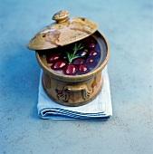 Duck terrine with cherry chutney