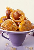Babas with rum and confit oranges
