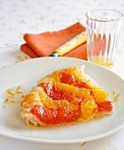 Citrus fruit Tatin tart