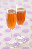 Two glasses of Kir Royal