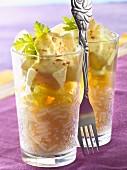 Curried coconut milk monkfish with basmati rice