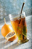 Spiced tea with kumquats