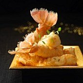 Langoustine and thyme tempuras