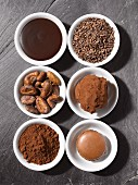 Different forms of chocolate